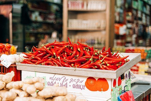 chillies used for the hottest food
