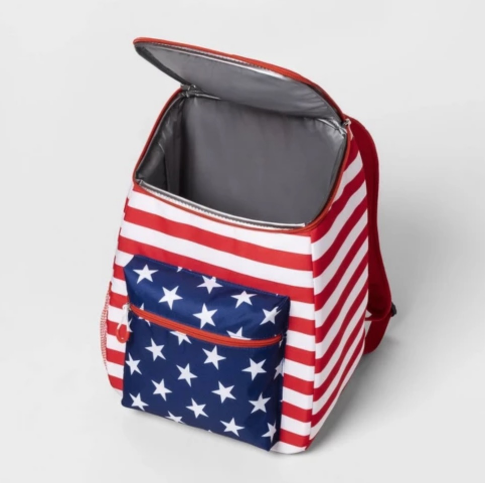 The stars and stripes version of the cooler backpack.