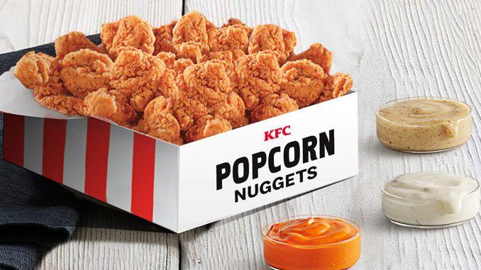 KFC popcorn chicken box