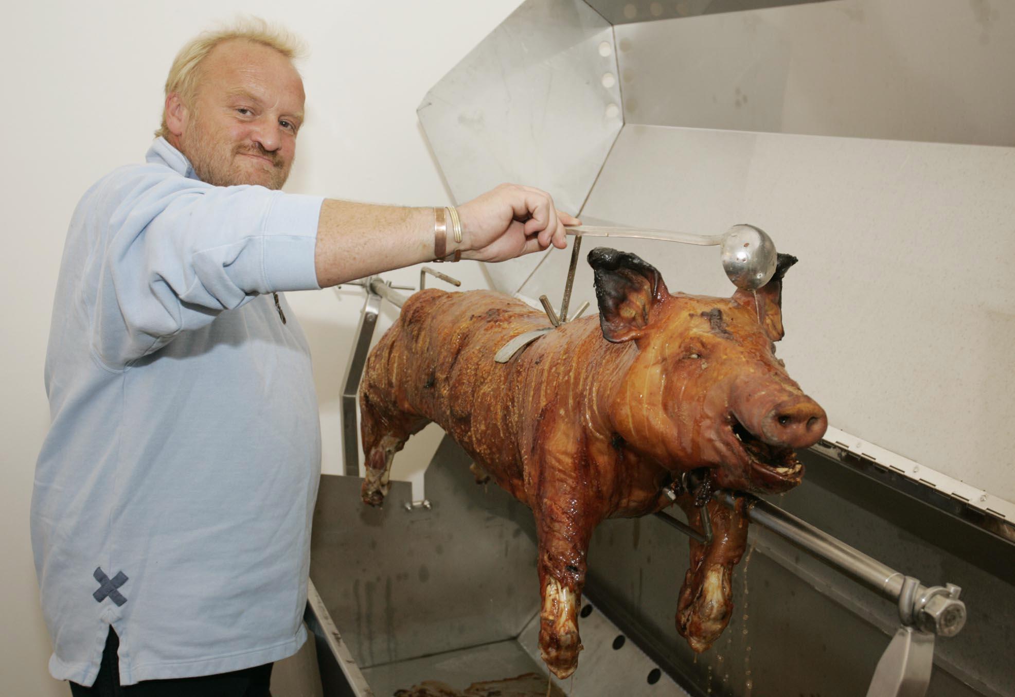 Anthony Worrall Thompson pig