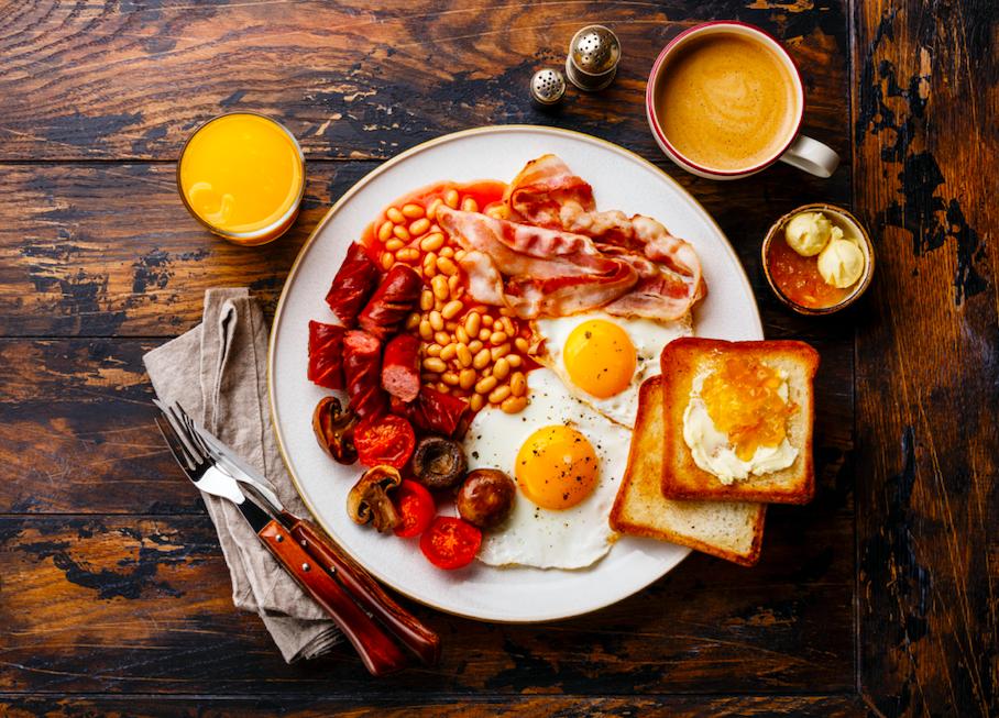 Cooked breakfast hangover
