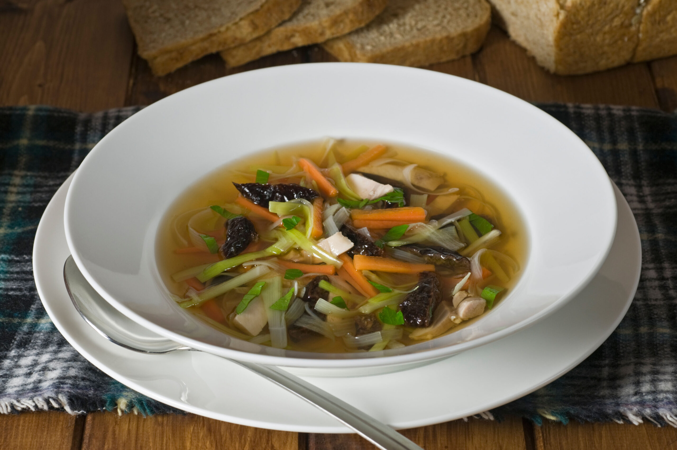 Cock a leekie soup