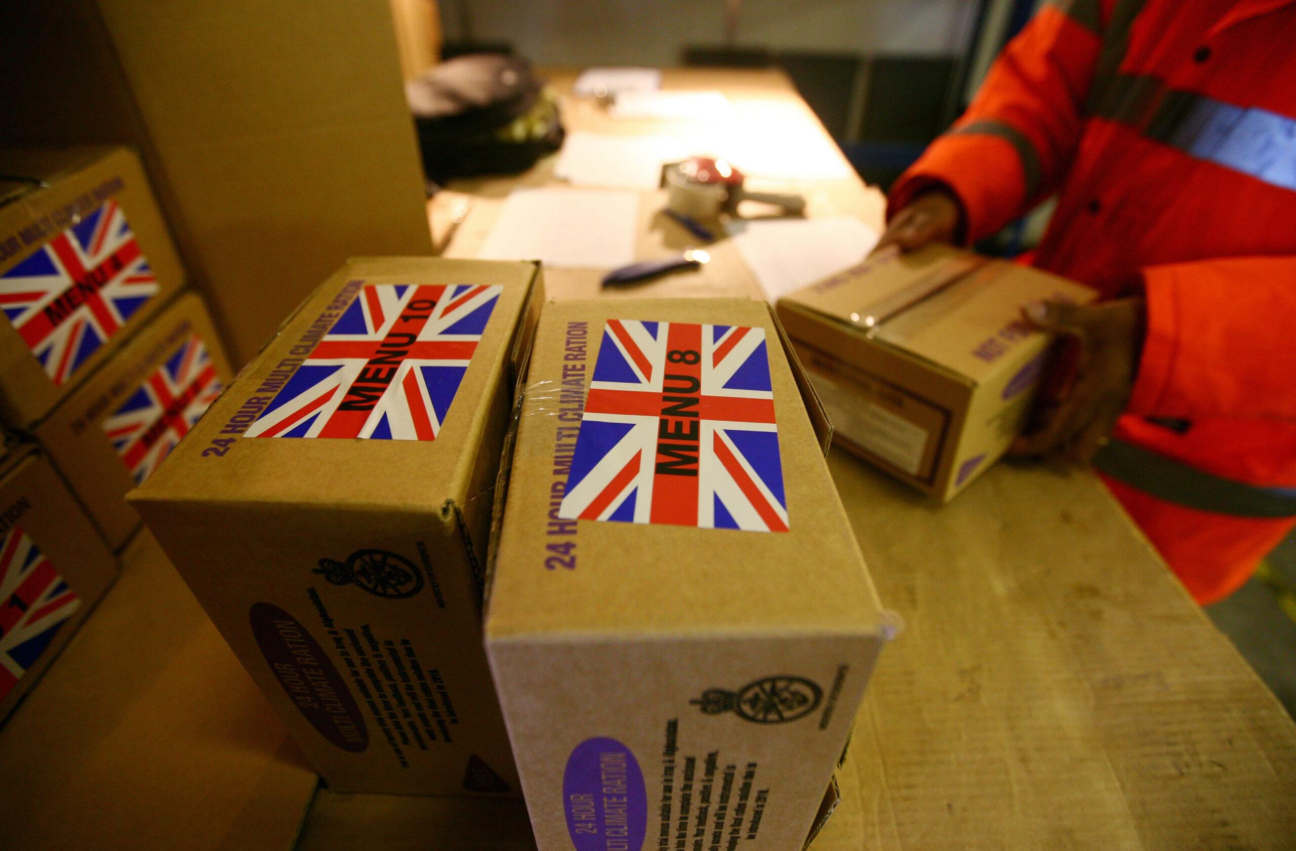 British army food