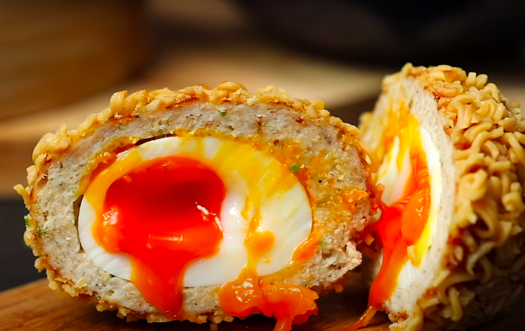 Ramen scotch egg