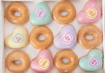 Krispy Kreme Love Hearts