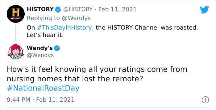 Wendy's History Channel roast