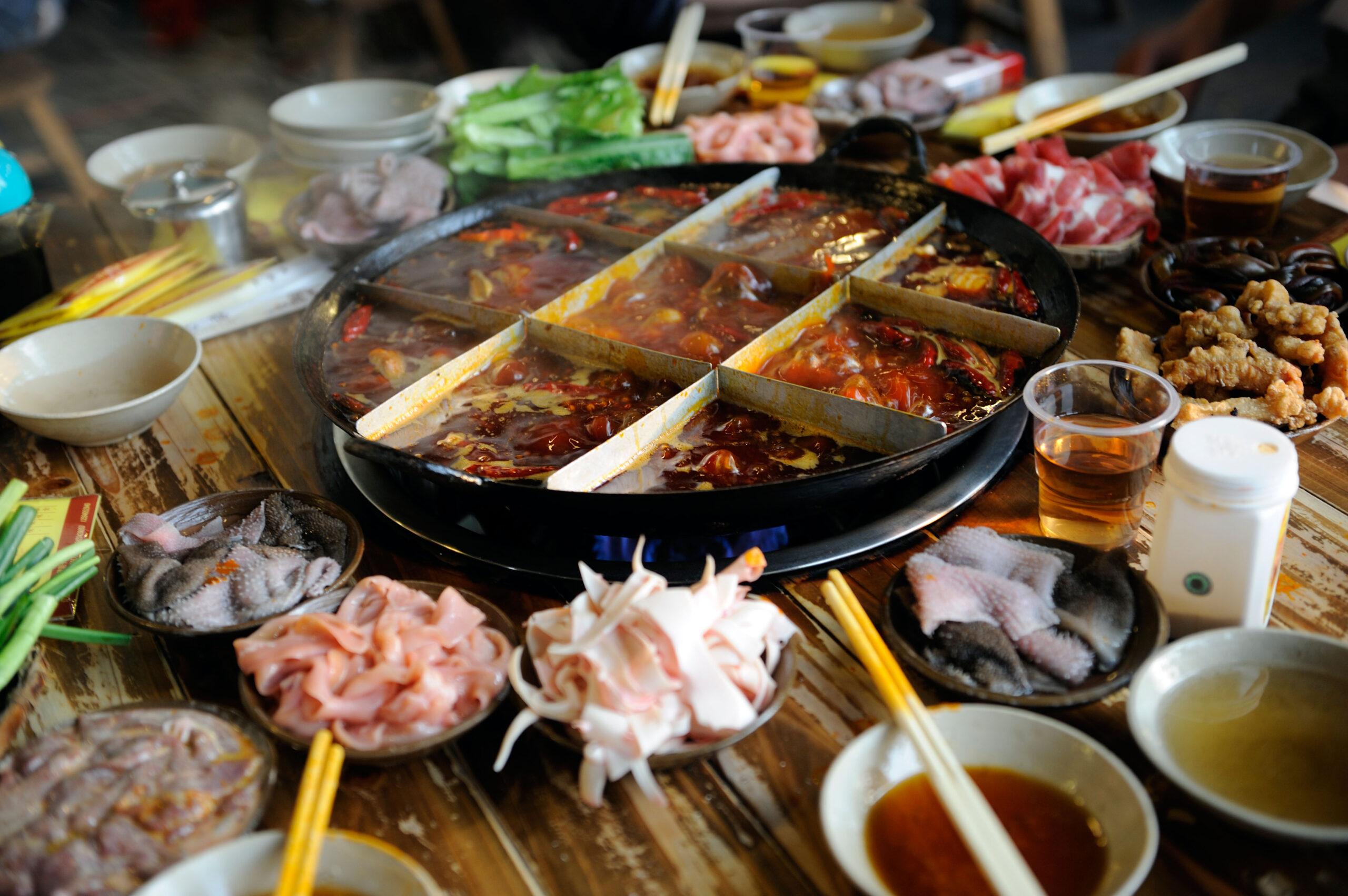 Chinese hot pot new year