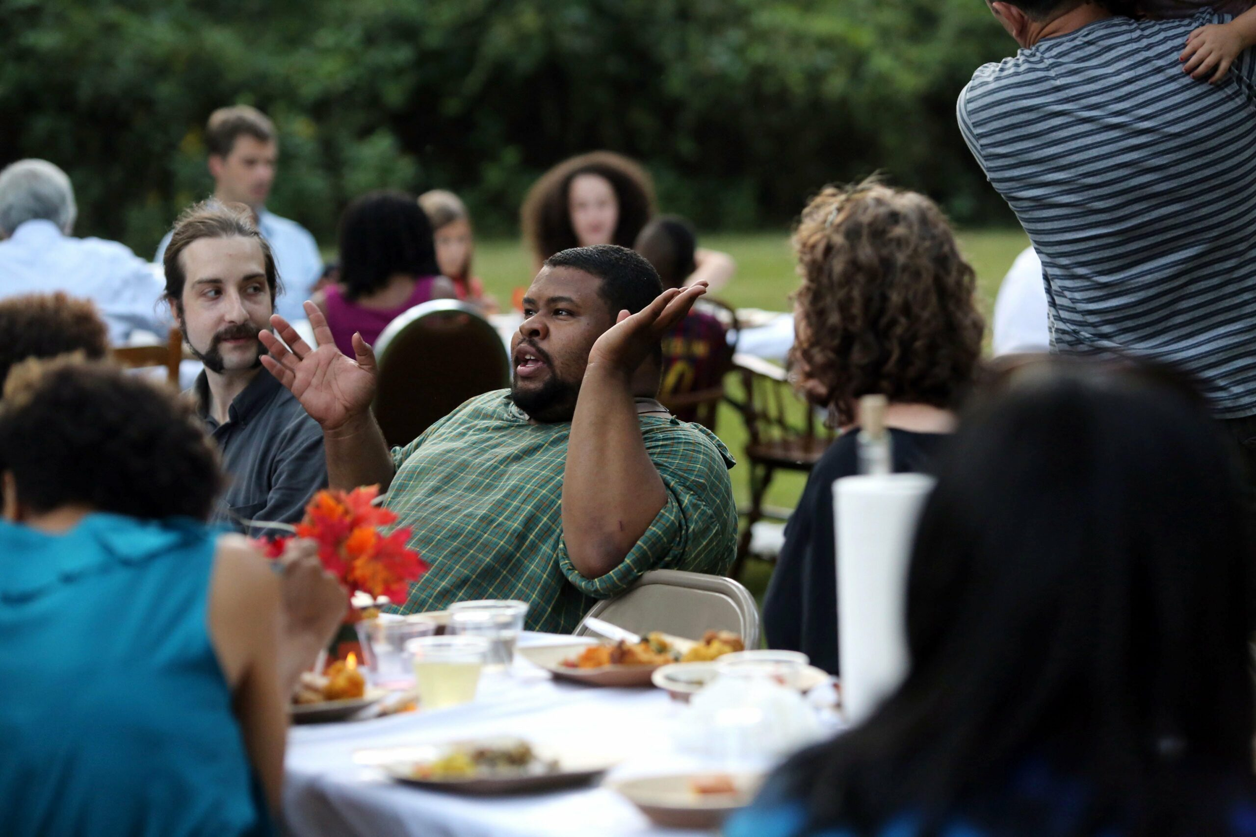 Michael Twitty at a cooking event