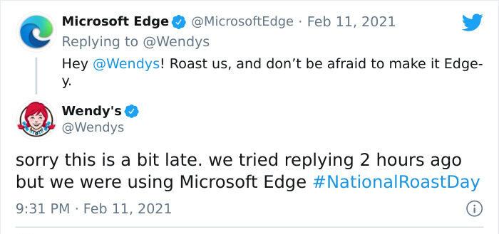 Microsoft Edge Wendys