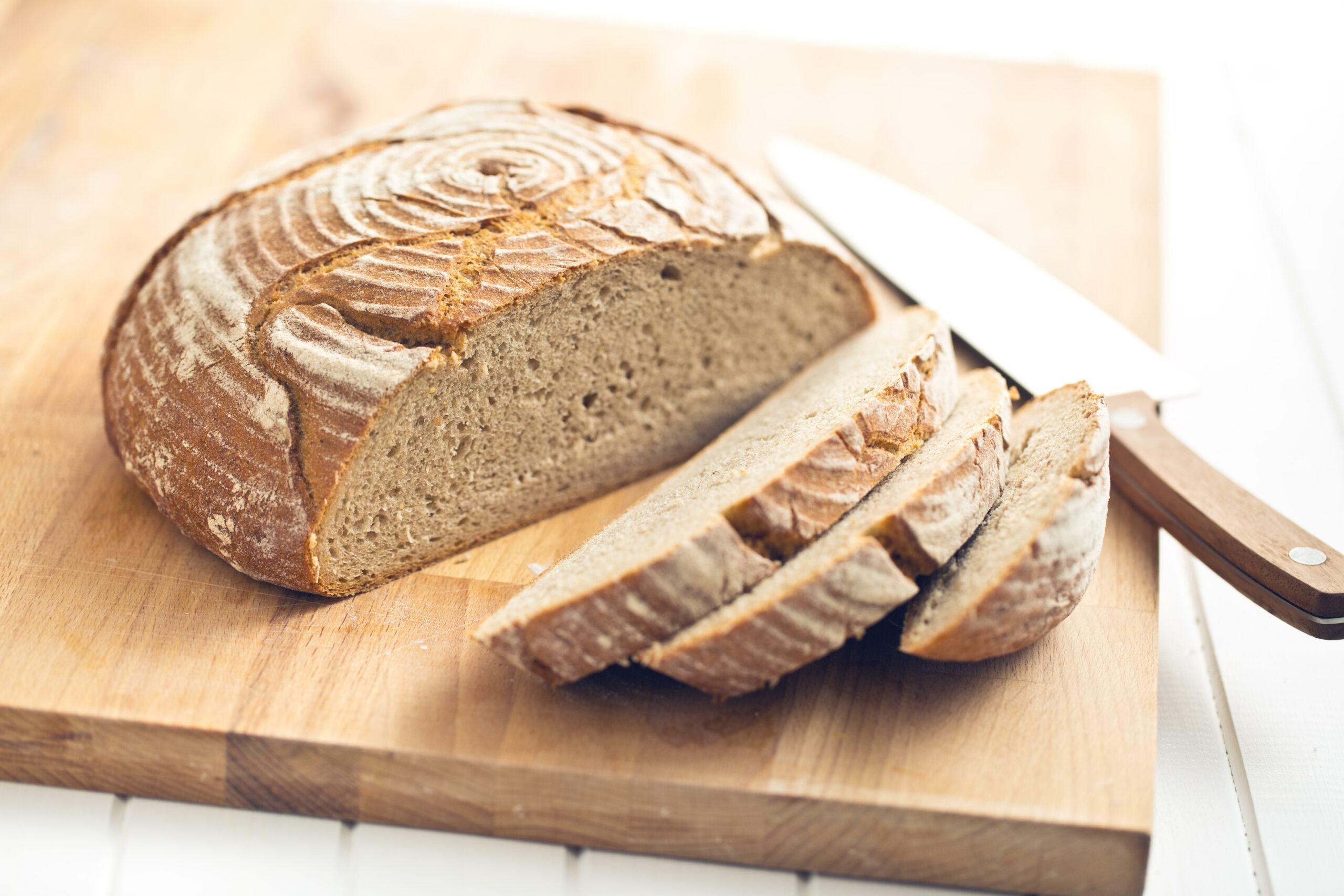 Sliced bread table
