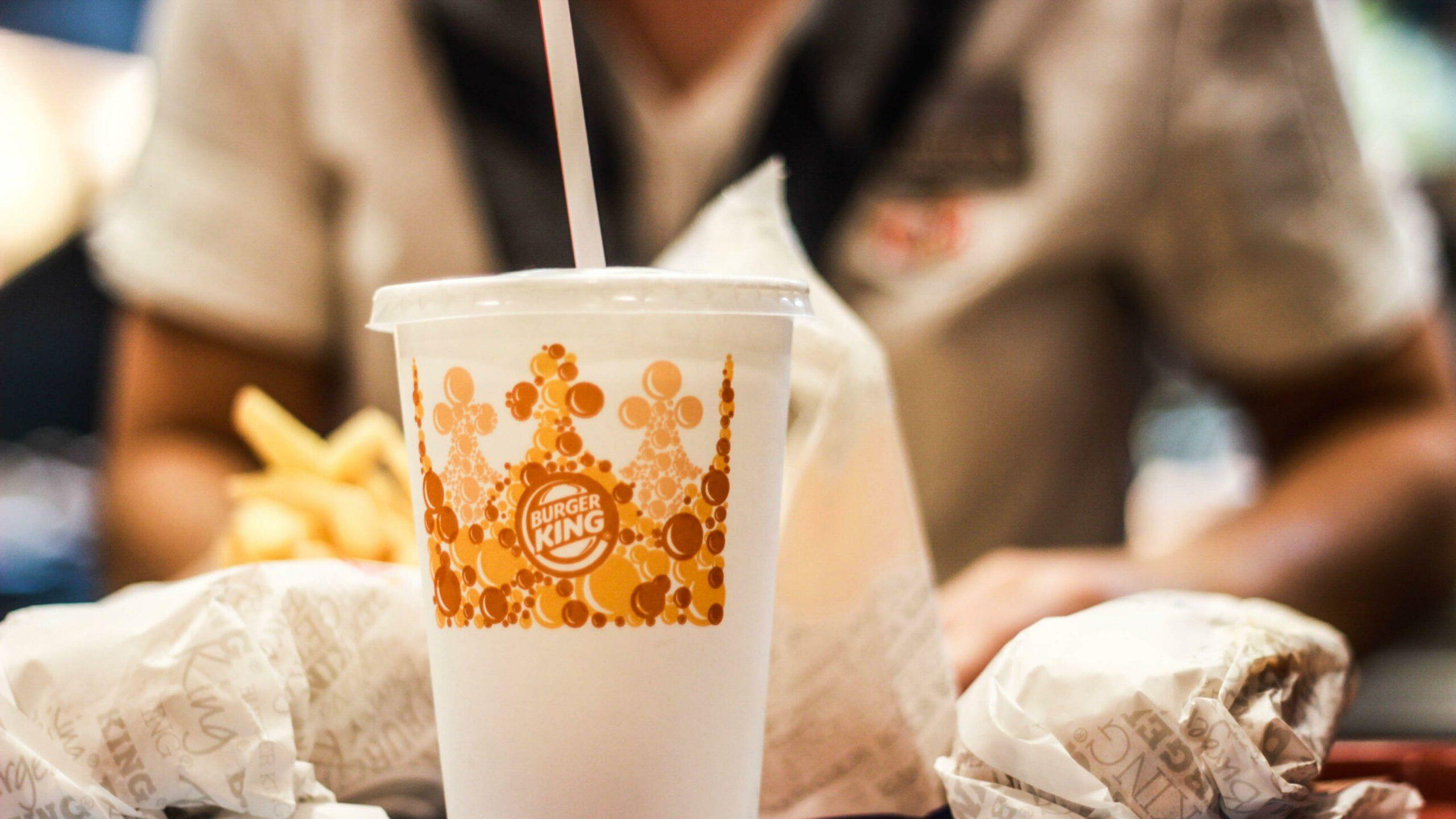 Burger King Vegan Royale drinks