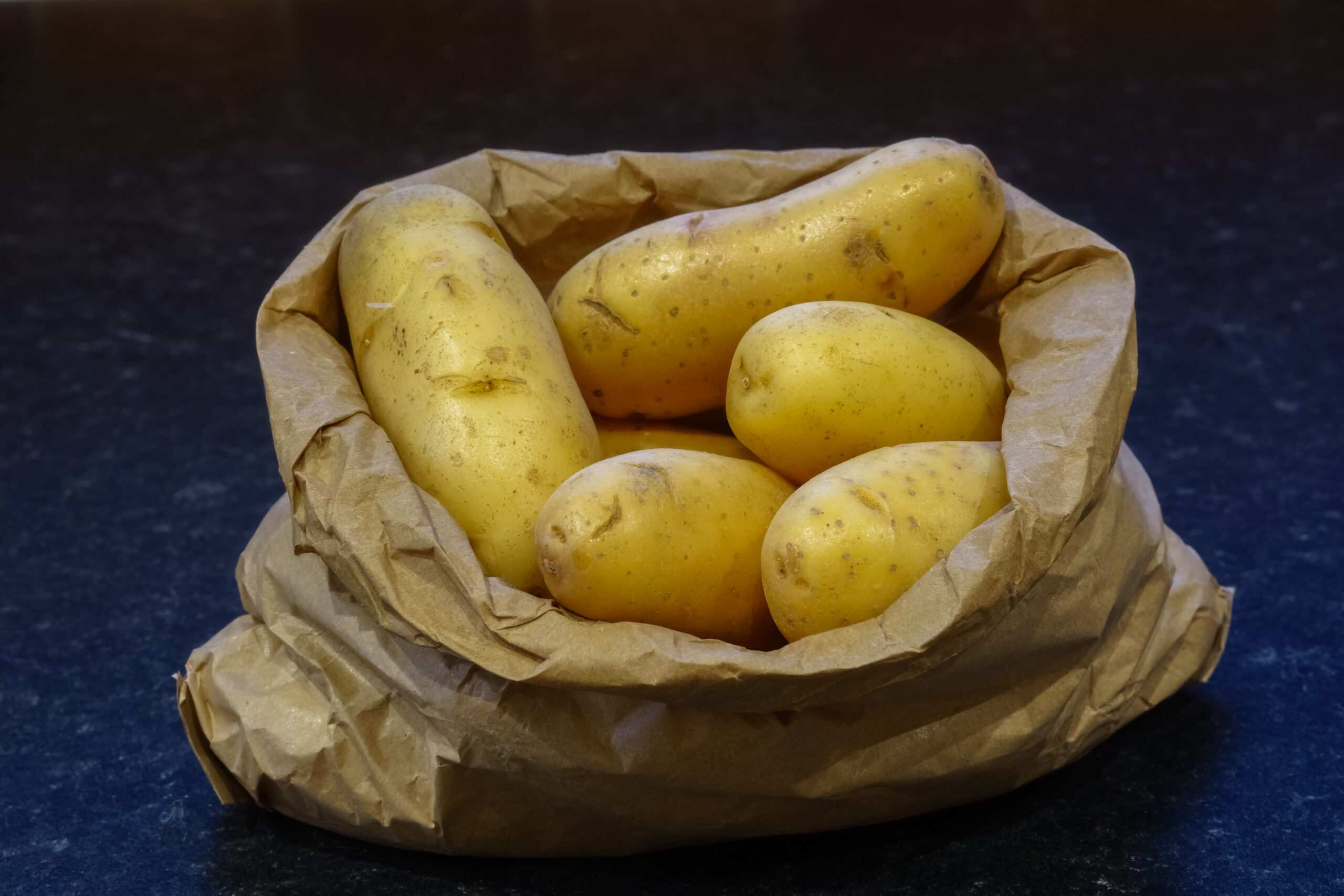 New potatoes in a bag