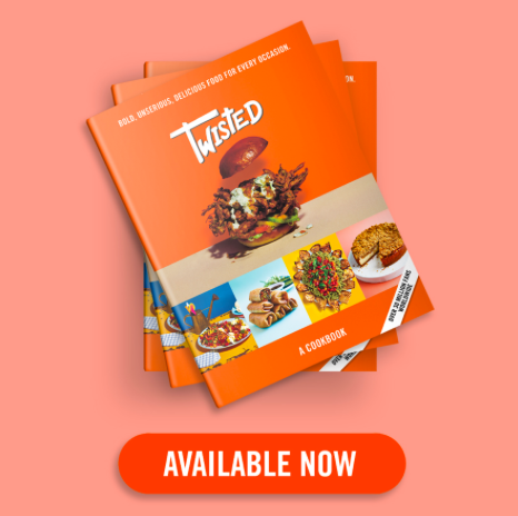 Twisted: A Cookbook is now available on Amazon and Waterstones (Credit: Twisted)