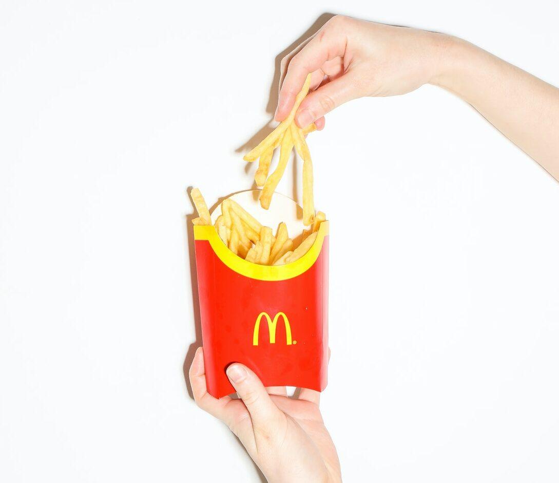 McDonald's sale fries hand