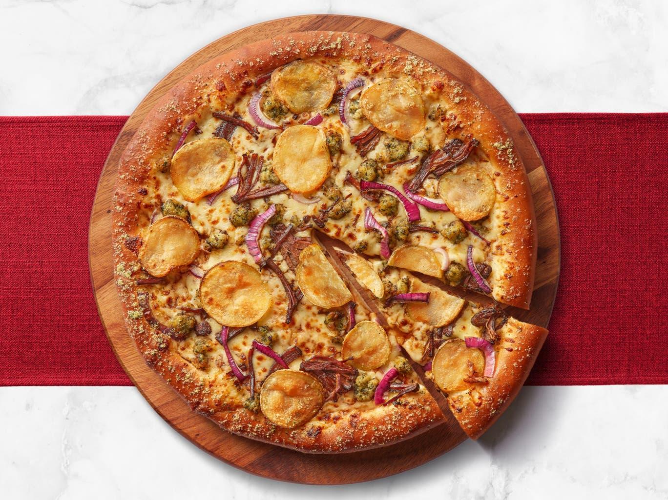 roast dinner pizza