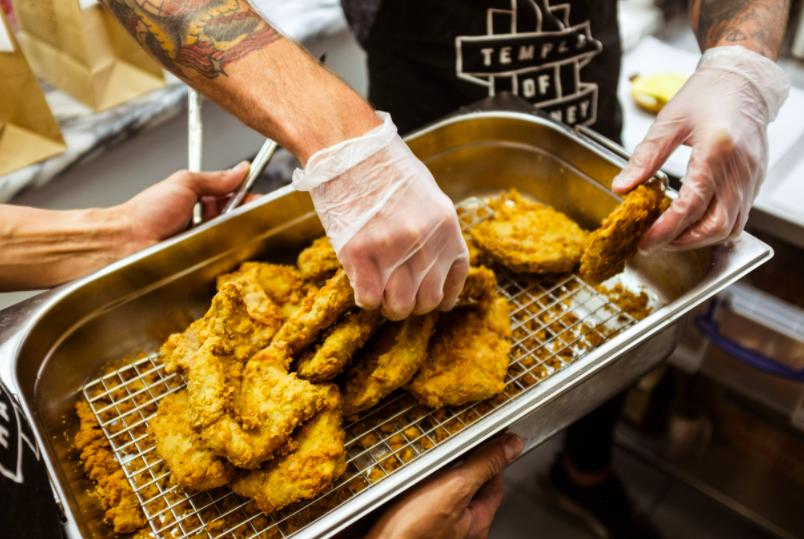 Vegan fried chicken Temple of Seitan