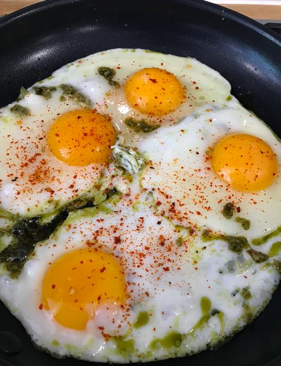 How to cook pesto eggs
