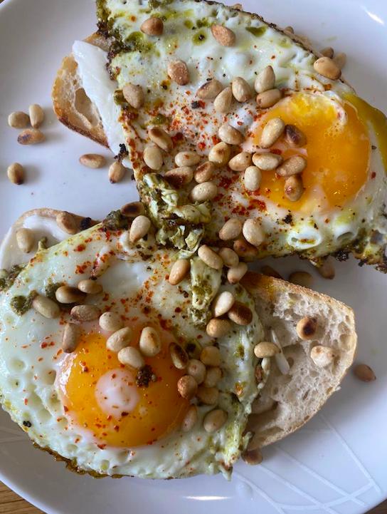 pesto eggs review