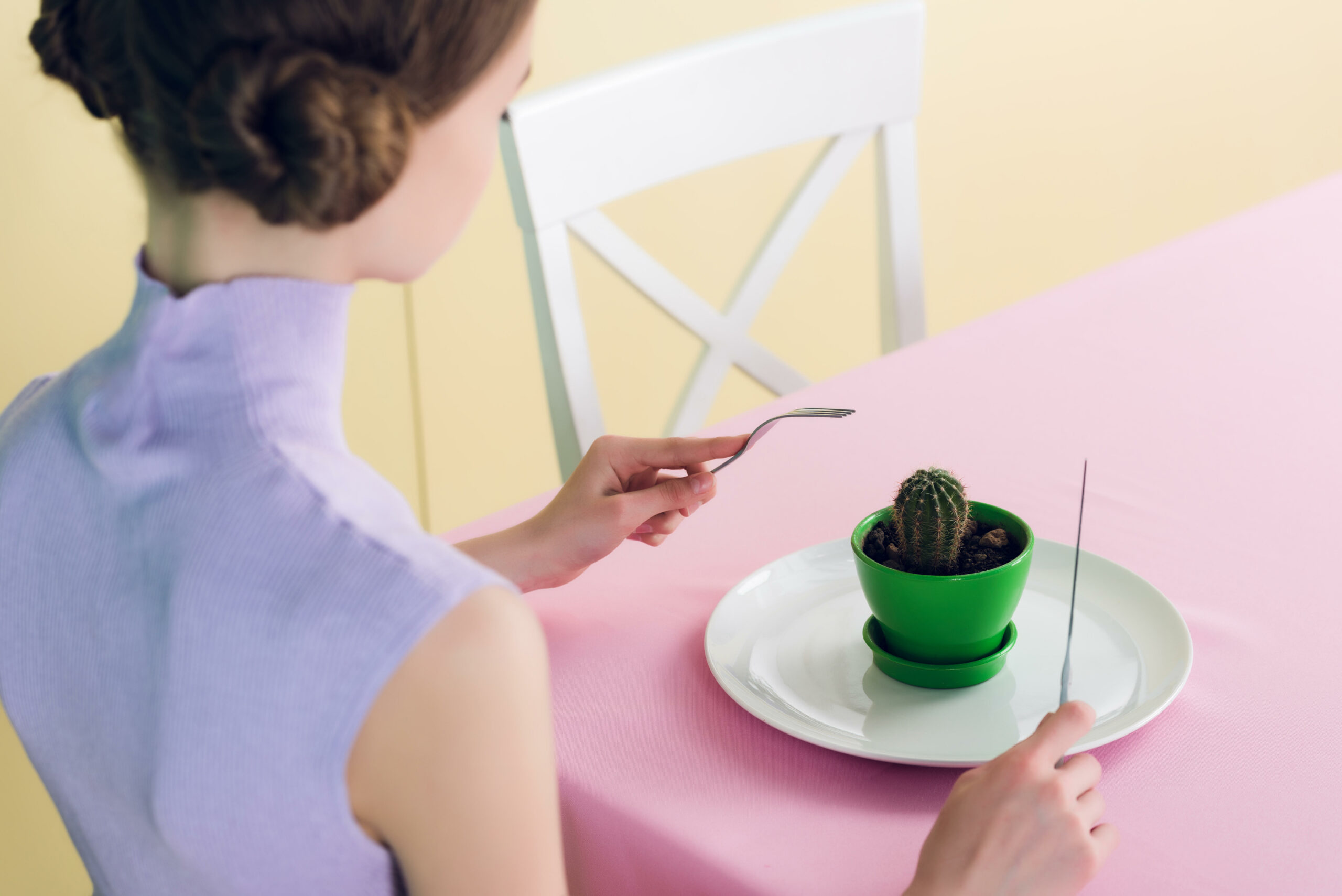 Eating a cactus