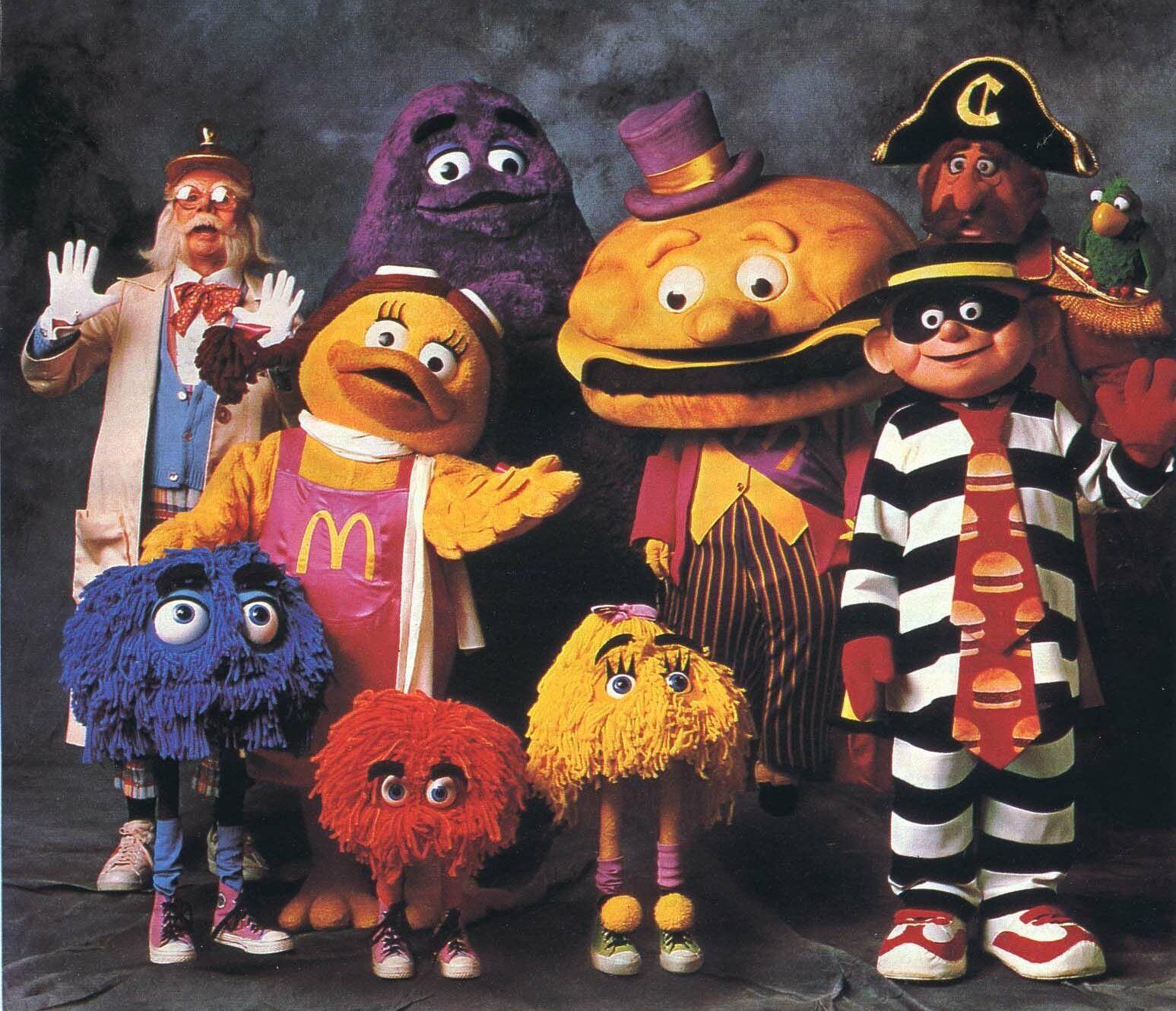 The Professor McDonald's characters