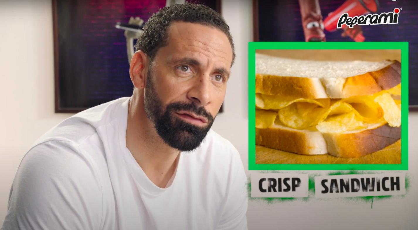 Rio Ferdinand snacks